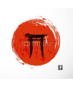 elinacious, Torii gates and red rising sun