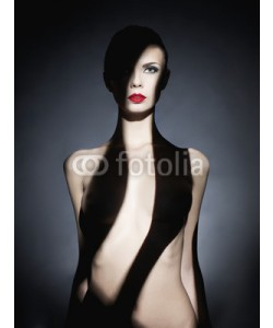 George Mayer, Gorgeous young lady with shadow on her body