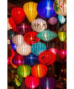 amadeustx, Paper lanterns on the streets of old Asian  town