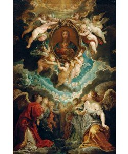 Peter Paul Rubens, Das Gnadenbild der Madonna della Vallicella, von Engeln ver