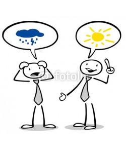 Robert Kneschke, Optimist und Pessimist reden miteinander