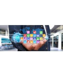 sdecoret, Businessman using modern digital applications