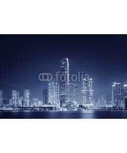 leeyiutung, Skyline of Hong Kong City at night