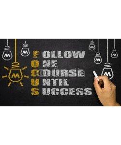 cacaroot, Focus Acronym: follow one course until success