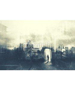 frankie's, Man walking in a mystic dark city