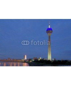 Blickfang, Fernsehturm mit Skyline Düsseldorf