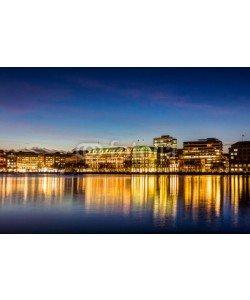 mije shots, Hamburg Binnenalster and skyline