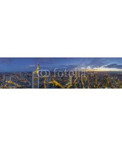 Blickfang, Panorama  Frankfurt Nacht Luftaufnahme