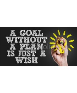 gustavofrazao, Hand writing the text: A Goal Without a Plan Is Just a Wish