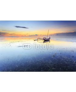 farizun amrod, Balinese jukung fishermen with beautiful sunrise in Bali, Indonesia
