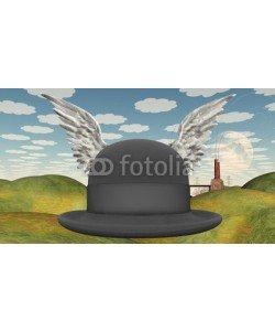 rolffimages, Winged Hat in surreal landscape