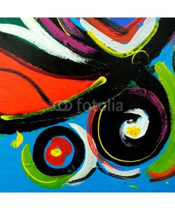 Mikhail Zahranichny, abstract modern painting by oil on  canvas for  interior, illust