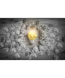 farizun amrod, New idea concept with crumpled office paper and light bulb
