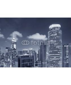 leeyiutung, Skyline of Hong Kong City at dusk