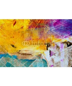 shvets_tetiana, Colorful abstract oil painting background. Oil on canvas texture. Palette knife paint texture. Hand painted. Modern art.