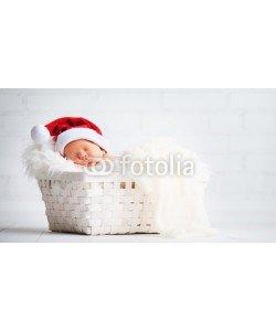 JenkoAtaman, sleeper newborn baby in  Christmas Santa cap