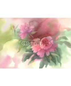 Egle, pink peony watercolor