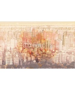 Tierney, Sketch of the Manhattan skyline cityscape