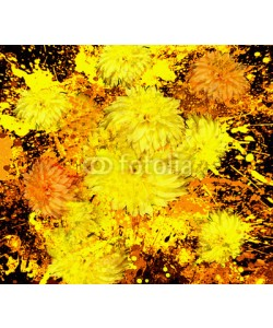 samkar, Abstract Flower Painting