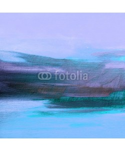 Mikhail Zahranichny, abstract landscape oil painting on canvas for interior, illustration