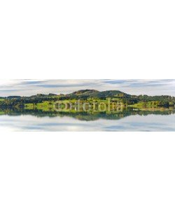 Wolfilser, Panorama Landschaft in Bayern im Allgäu