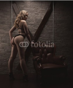 fenix_live, prepare to play in love games. BDSM. dominatrix woman in sexy black lingerie stands