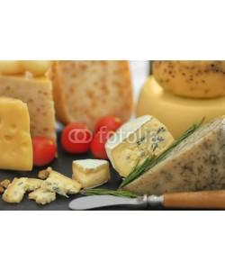 Africa Studio, Different types of cheese on table, closeup