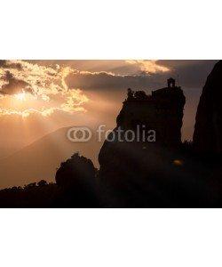 Cara-Foto, Stimmungsvoller Himmel über der Felslandschaft von Meteora