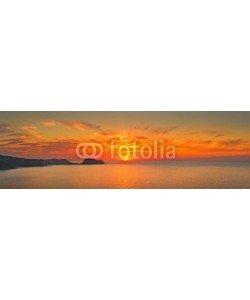 denis_333, Ocean sunset panorama, Zarautz, Spain