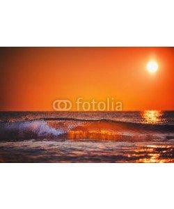 ValentinValkov, Sea wave close up, low angle view, sunrsie shot