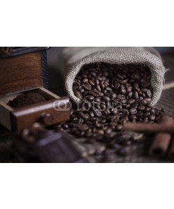 gpointstudio, Sack of coffee bean and coffee mill