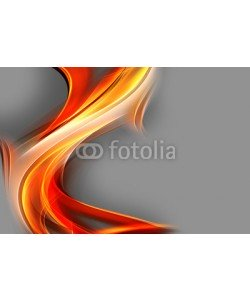 SidorArt, Orange modern bright waves art background.