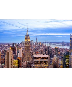 pure-life-pictures, New York City, Skyline, Blick von Uptown nach Downtown