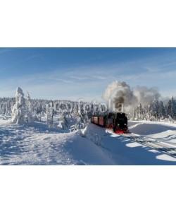 Christian Spiller, Die Brockenbahn mit der Lok 99 7241-5 der Harzer-Schmalspurbahne