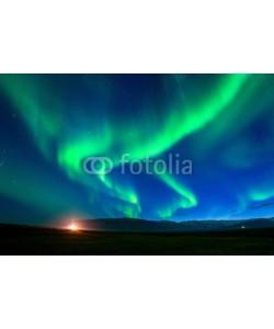 tawatchai1990, Northern lights (Aurora borealis) at night.