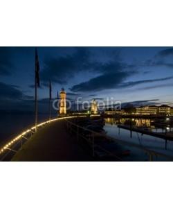 Andrzej Gryczkowski, Hafen in Lindau bei Nacht 05