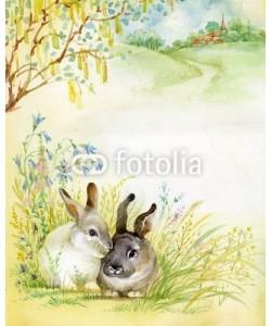 Nadiia Starovoitova, Watercolor Illustration: Rabbits