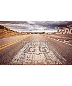 Andrew Bayda, An old Route 66 shield painted on road