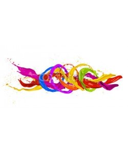 Jag_cz, Colored splashes isolated on white background