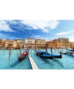 Iakov Kalinin, gondolas in Venice, Italy