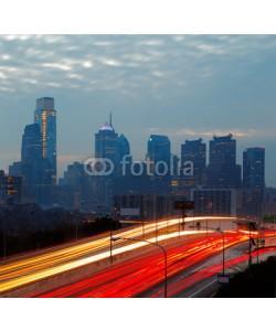 Sophie James, City of Philadelphia, skyline is beautifully lit up at dusk