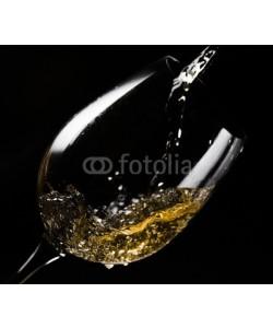 Igor Normann, White wine  on black