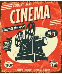 laralova, Grunge retro cinema poster. Vector illustration.