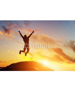 Leinwandbild, Photocreo Bednarek, Happy man jumping