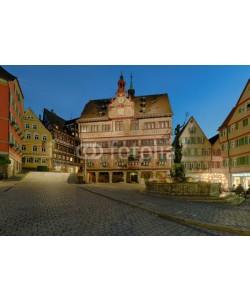 Blickfang, Tübingen Marktplatz Rathaus beleuchtet
