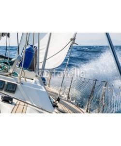 AlexanderNikiforov, Fast sailing cruising yacht at heeling