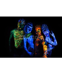 Andrey_Arkusha, Body art glowing in ultraviolet light
