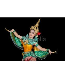 anekoho, Portrait of Thai young lady in an ancient Thailand dance