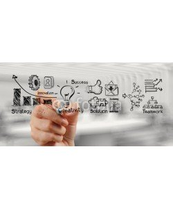 everythingpossible, hand drawing graph chart and business strategy as concept