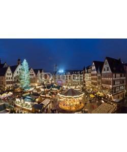 Blickfang, Weihnachtsmarkt Frankfurt Römer Panorama